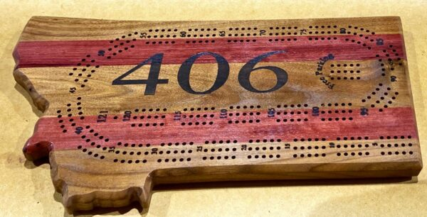 mt cribbage board purpleheart walnut
