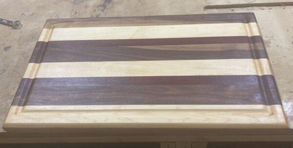 large hardwood cutting board juice groove