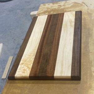 Walnut, Maple, and Sapele Rectangle Cutting Board