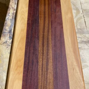 Montana Made Long Cutting Board in Beech, Sapele, and Purpleheart