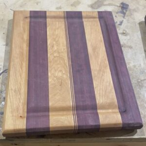 Montana Made Cutting Board in Purpleheart and Cherry